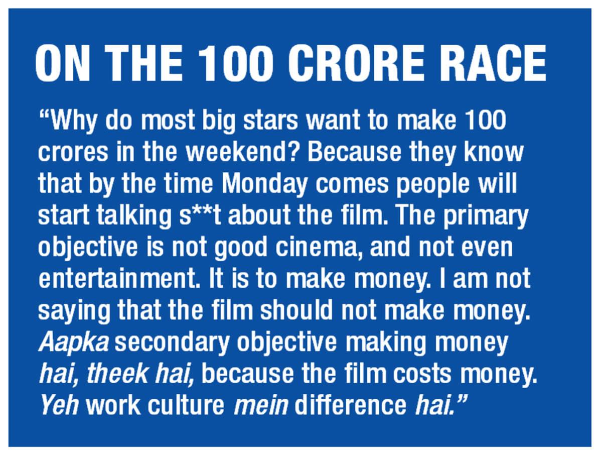 Ranvir's views on the 100 crore race