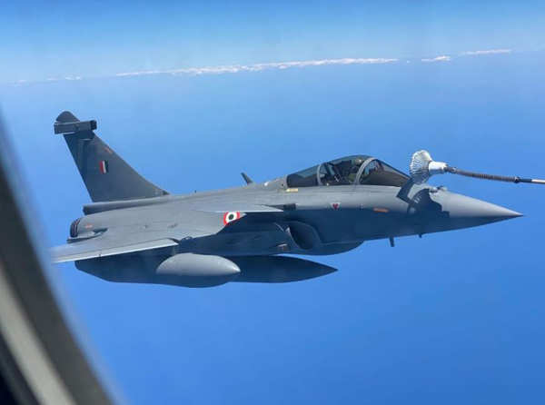 Five Rafale jets touchdown Indian soil at Ambala air base