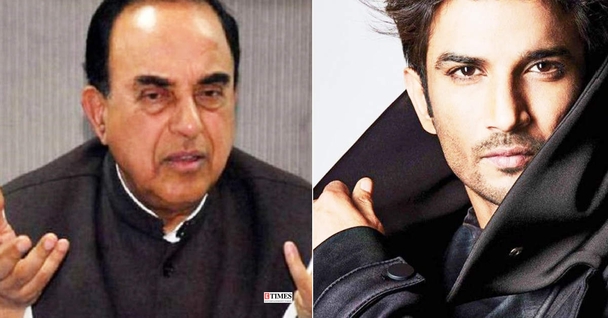 BJP MP Subramanian Swamy shared why he feels Sushant Singh Rajput was murdered