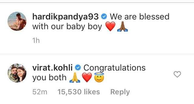 Hardik Pandya and Natasa Stankovic welcome baby boy