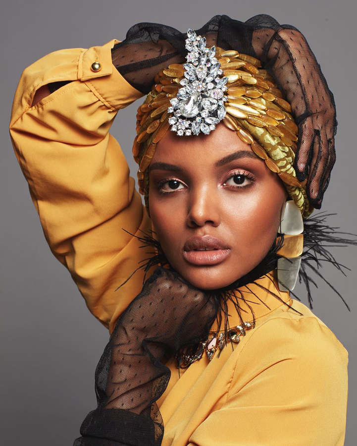 Hijabi model Halima Aden sweeping hearts in a modest way