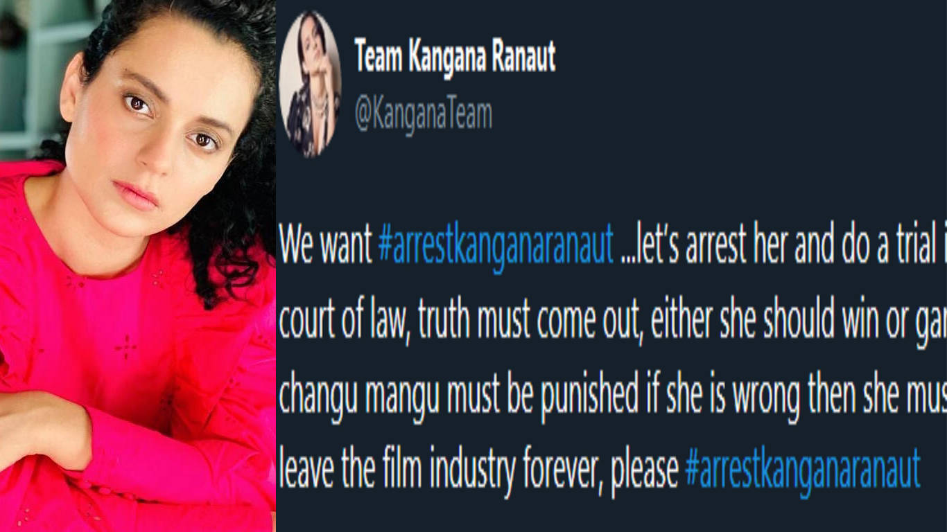 #ArrestKanganaRanaut trends on social media as netizens call for Kangana's arrest due to her false claims