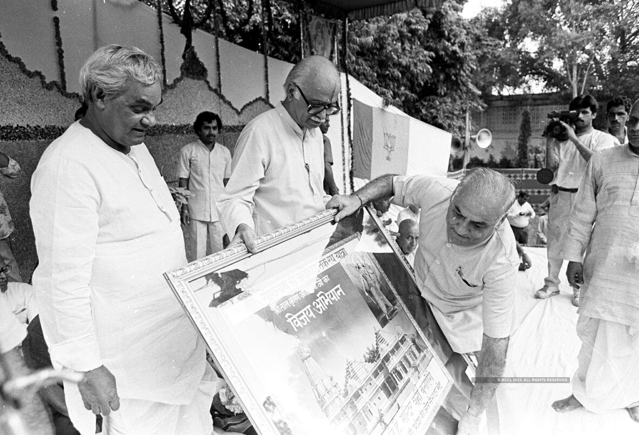 Throwback pictures of Ram Mandir movement