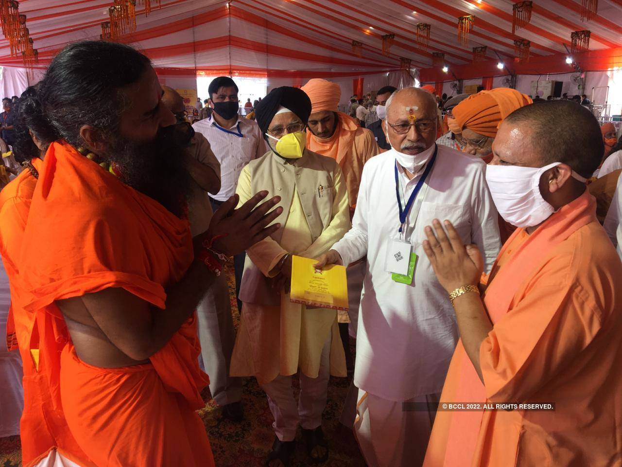 Bhoomi Pujan: UP CM Yogi Adityanath welcomes guests