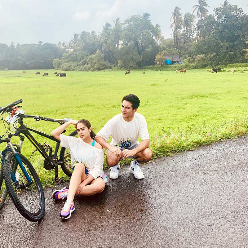 Childhood picture of Sara Ali Khan with her brother Ibrahim go viral