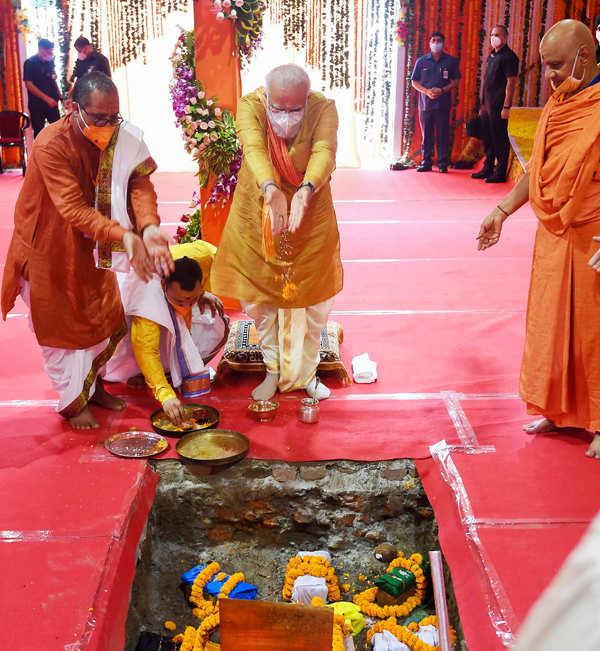 PM Modi performs bhoomi pujan of Ram Mandir in Ayodhya