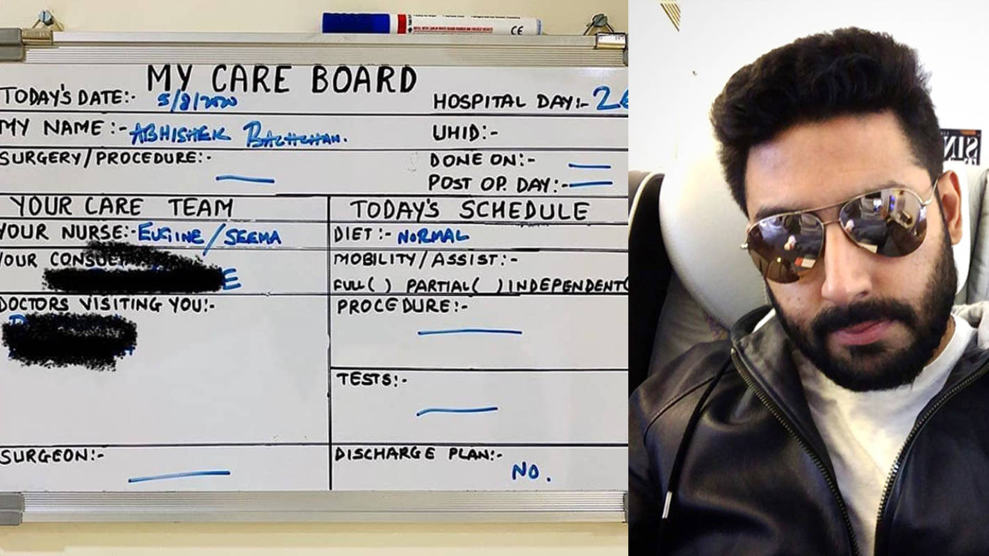 """Come On Bachchan, You Can Do It"", wrote Abhishek Bachchan as he battles COVID-19 at the hospital"