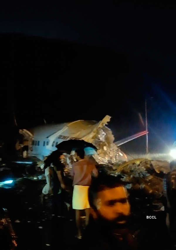 Air India Express flight breaks up into two while crash landing in Kerala