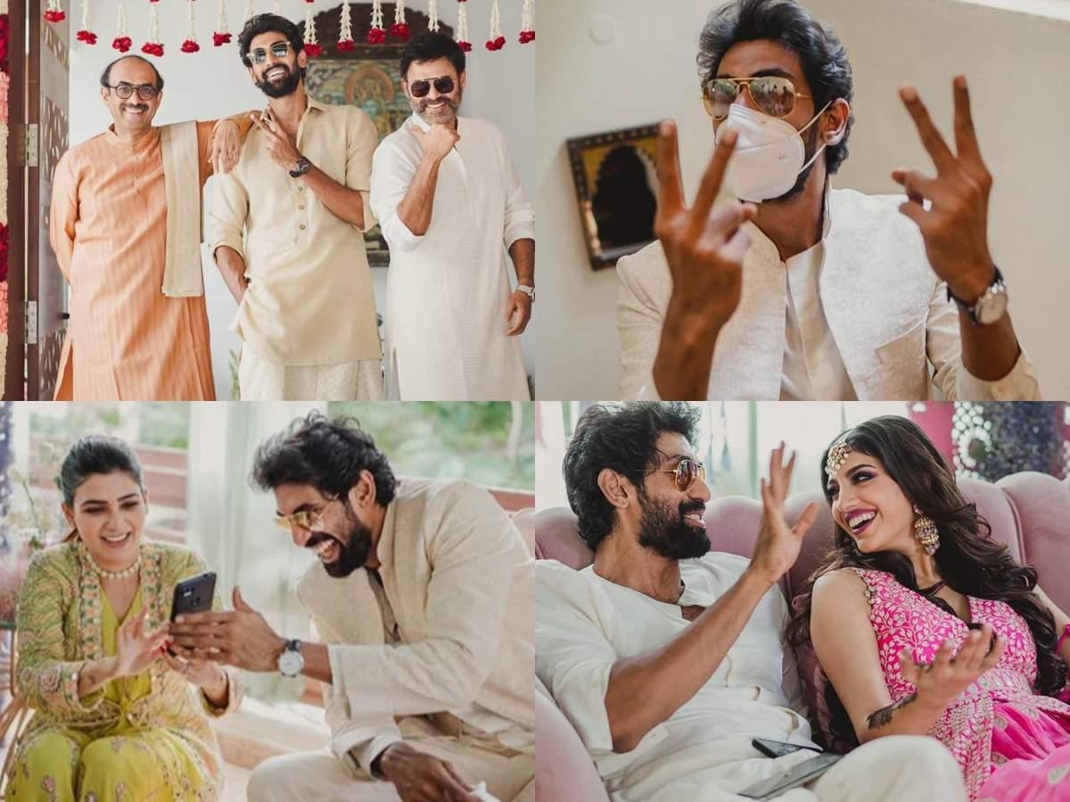 10 candid pictures from Rana Daggubati-Miheeka's wedding festivities that won the internet