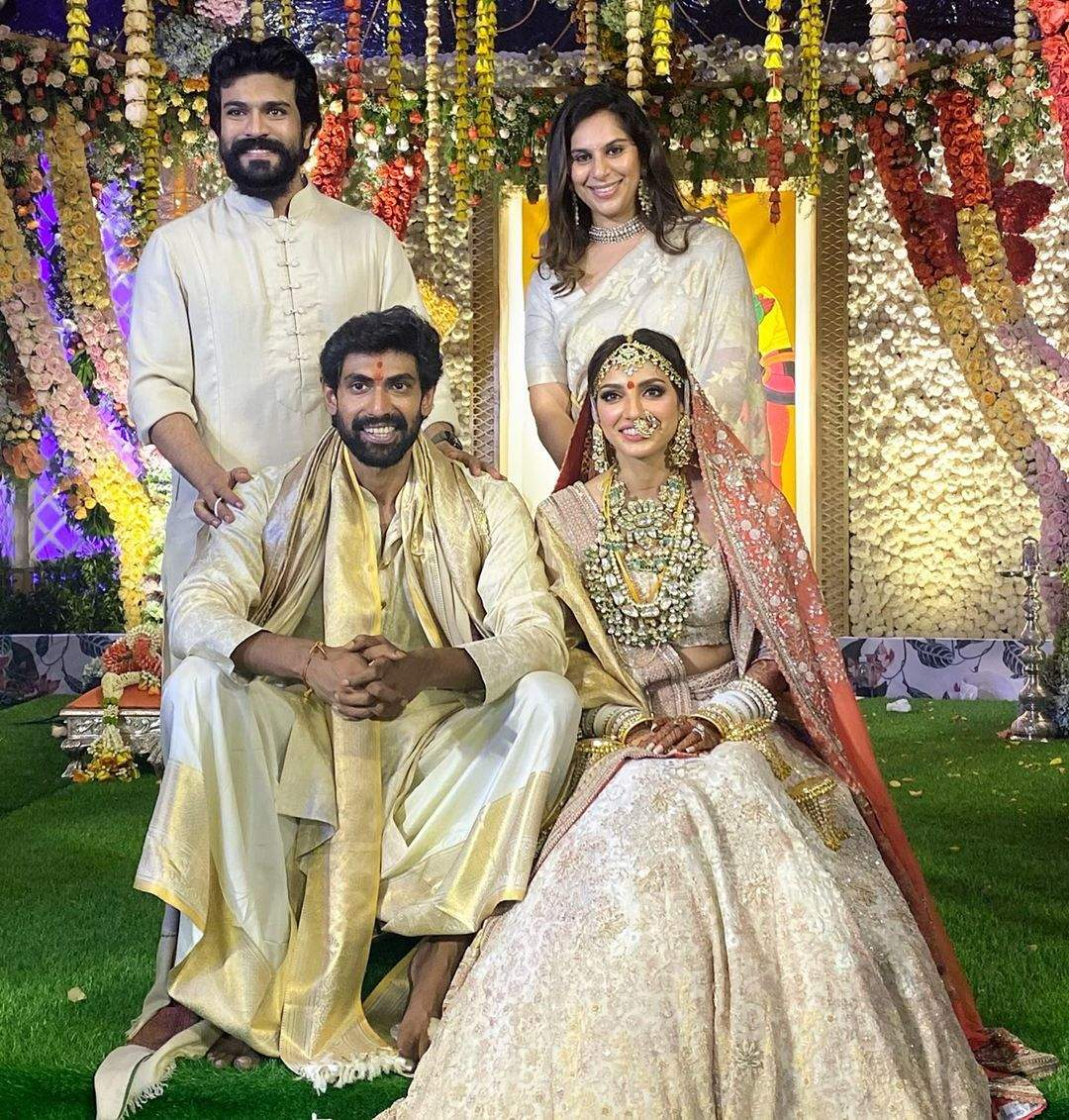 Ramcharan at Rana's wedding