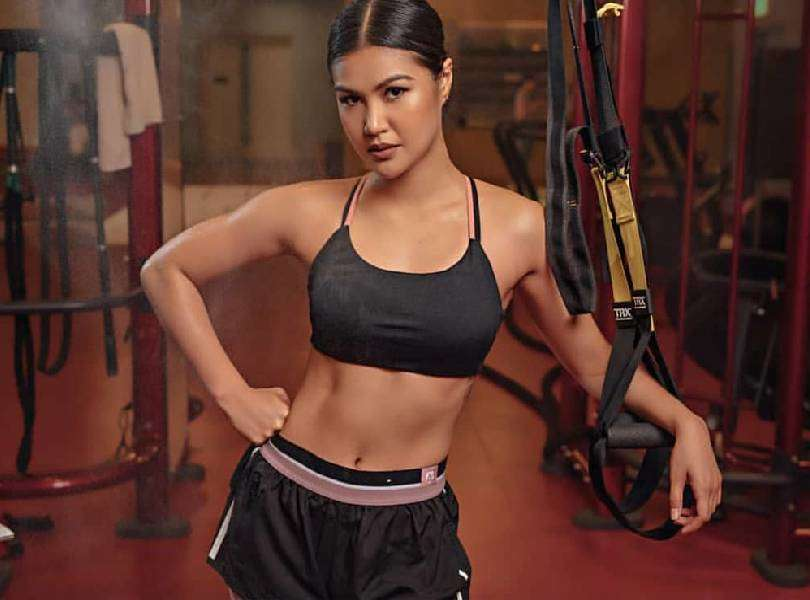 Beauty queen Winwyn Marquez started her basic citizen military training