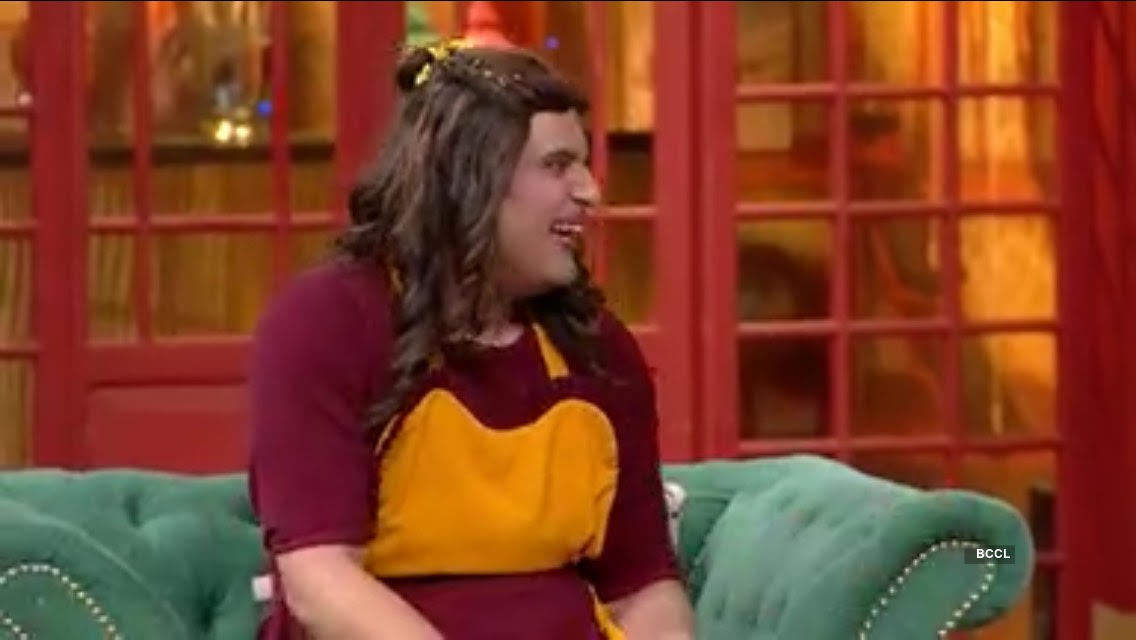 Krushna dresses up as Sapna