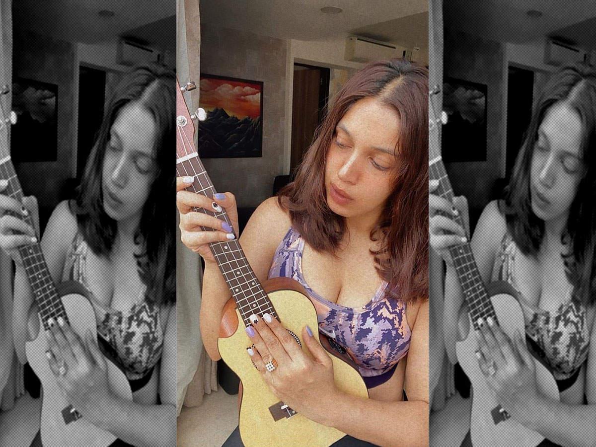 Bhumi Pednekar indulges in a musical mood on Sunday