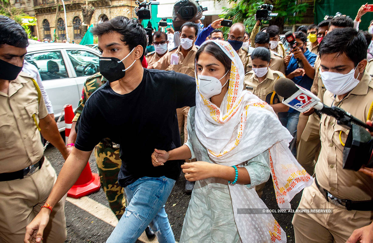 Sushant Singh Rajput case: Rhea Chakraborty arrives at ED office with brother for questioning