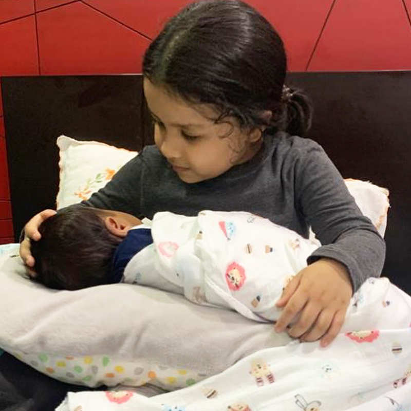 Fans can't keep calm after pictures of Ziva Dhoni holding a newborn go viral…