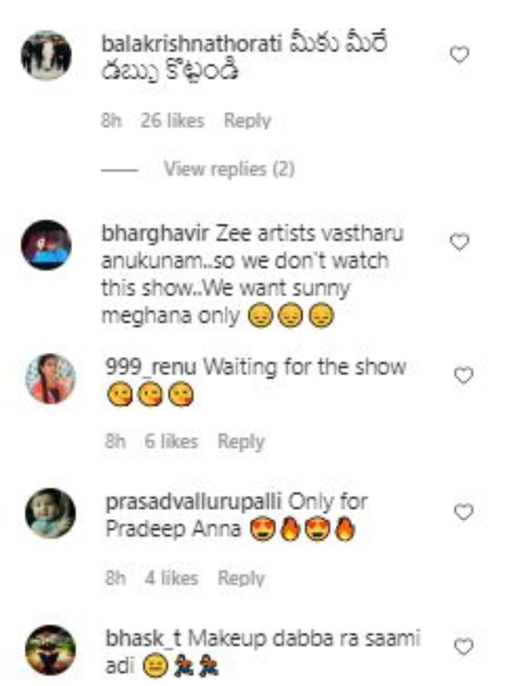 Netizens react to Niharika's show