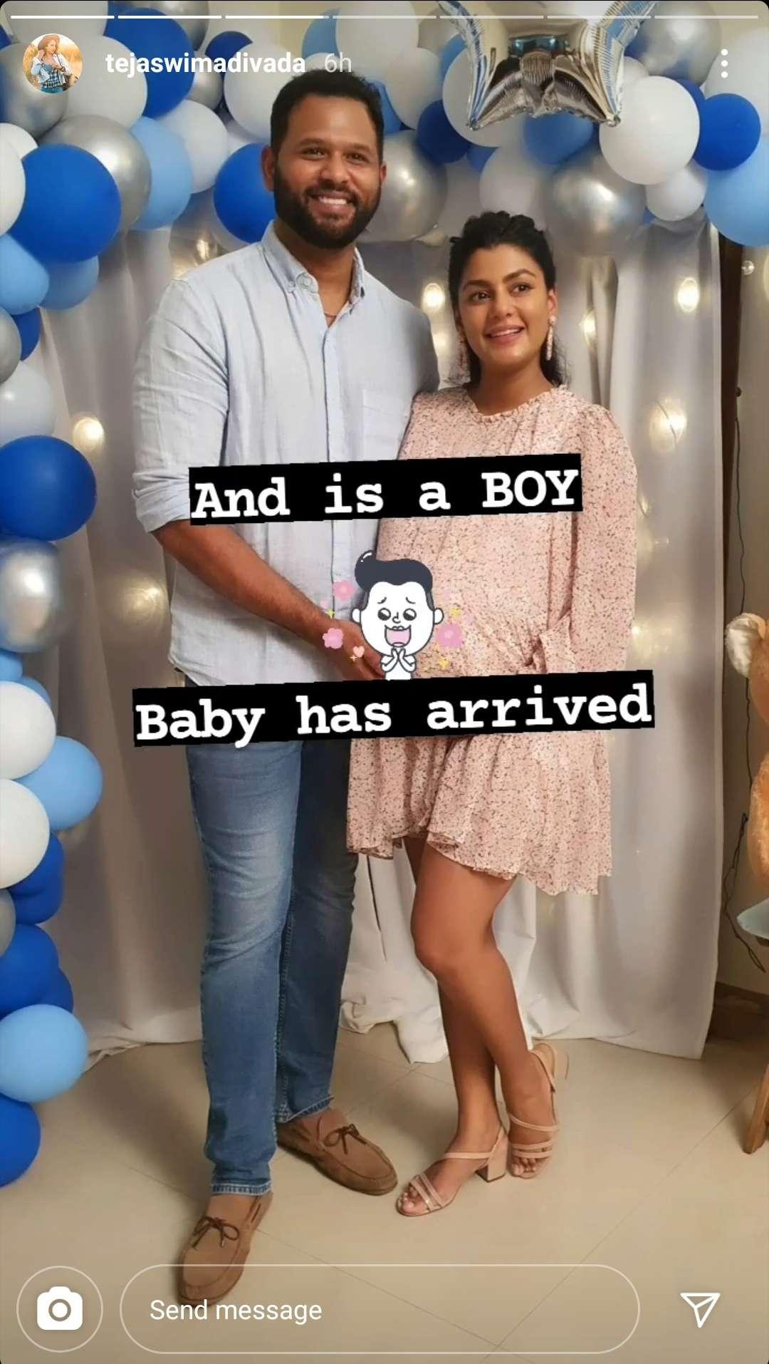 Anisha Ambrose Baby Boy Tejaswi Madivada