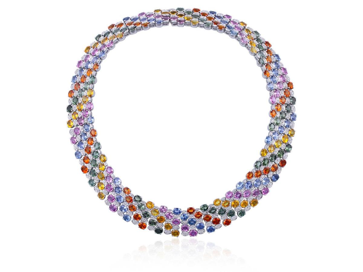 Choker necklace by Kohinoor Jewellers Agra