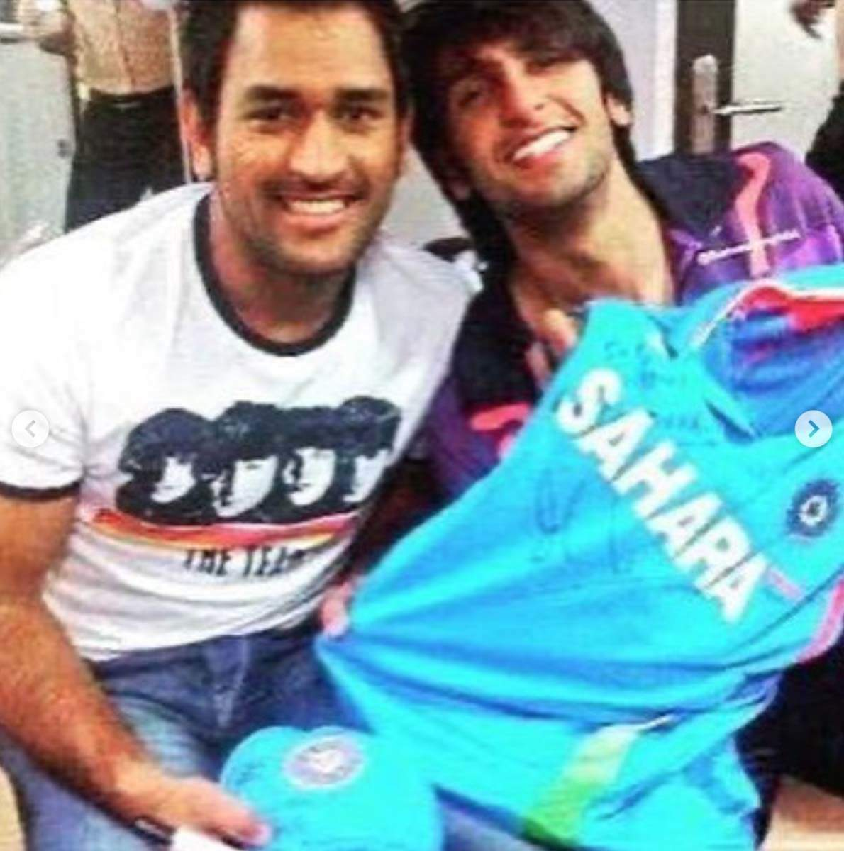 Ranveer Singh pays tribute to MS Dhoni with pictures never seen before