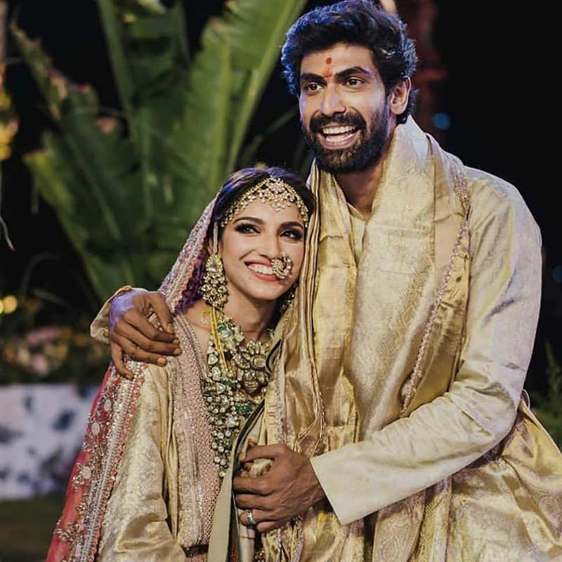 Candid pictures from Rana Daggubati & Miheeka Bajaj's intimate wedding & pre-wedding functions