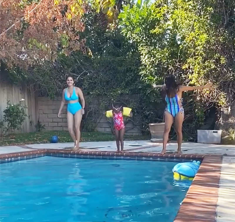 Sunny Leone is turning up the heat with her new pool pictures
