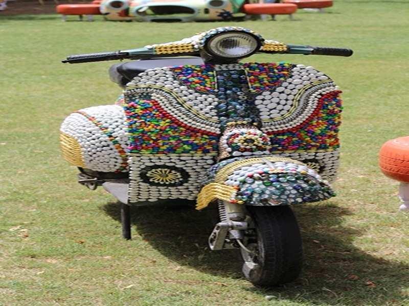 Designed old scooter