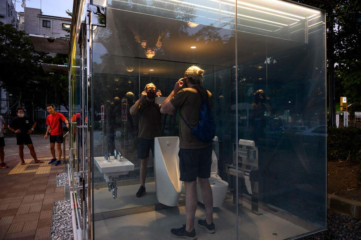 These transparent public toilets in Tokyo is all that the internet is talking about