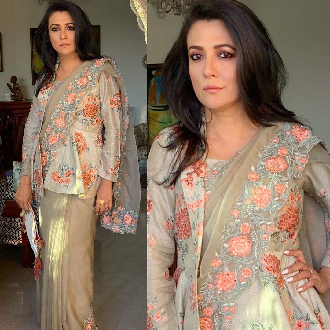 25 instances Mini Mathur gave her casual sarees a smart edge