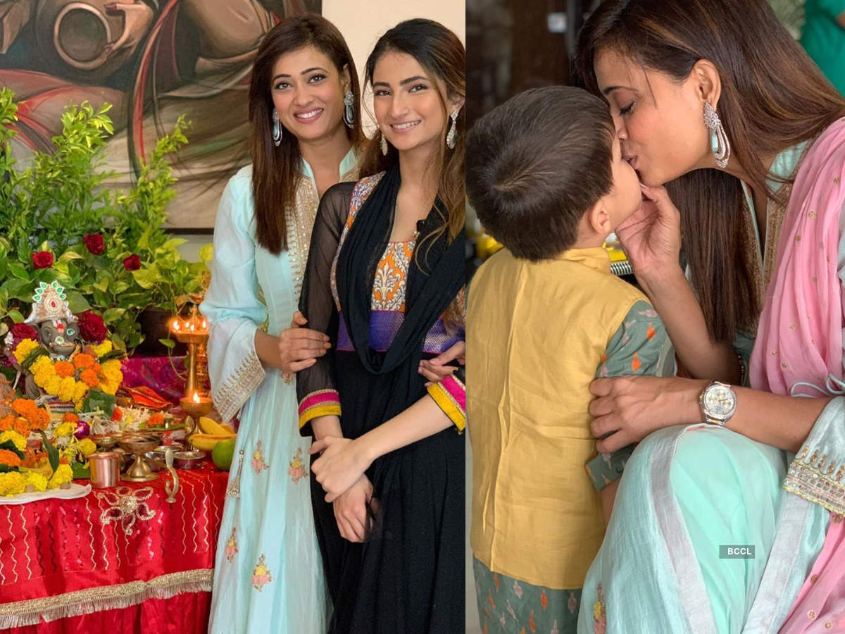 Ganesh Chaturthi 2020: Shweta Tiwari and her kids Palak, Reyansh share pictures with their Ganpati; a look at festive moments of TV celebs    The Times of India