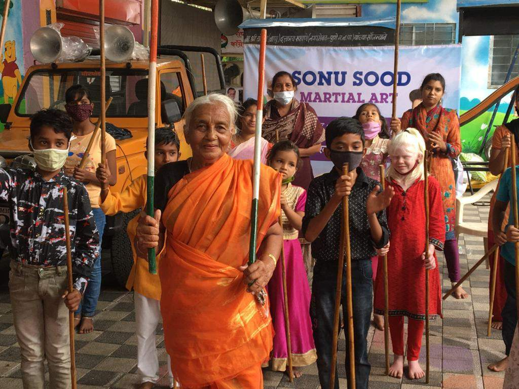 Warrior Aaji with her students