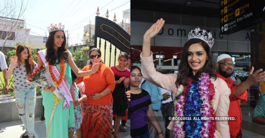 Throwback: A series of glorious homecoming moments from Miss India 2017