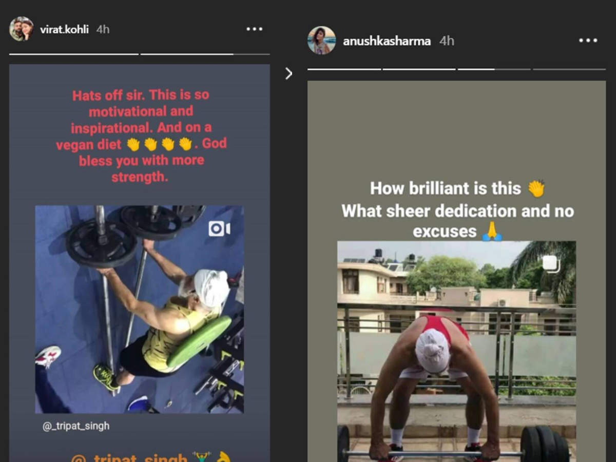 Virat and Anushka talk about Tripat Singh on Instagram