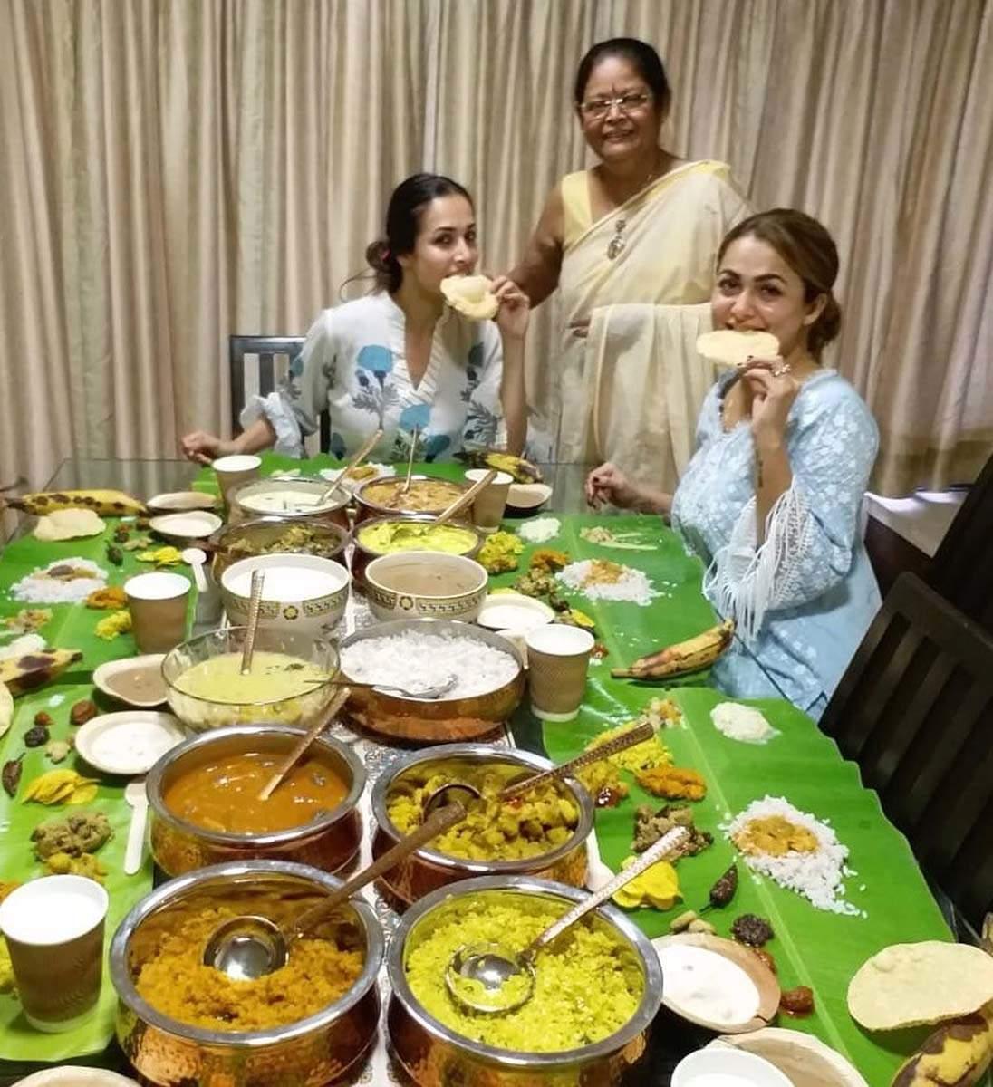 Malaika Arora shares mouth watering Onam Sadya pictures on social media