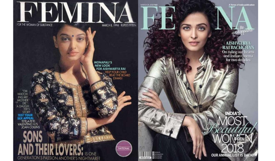 These Femina magazine covers featuring Aishwarya Rai Bachchan are proof of her ageless beauty
