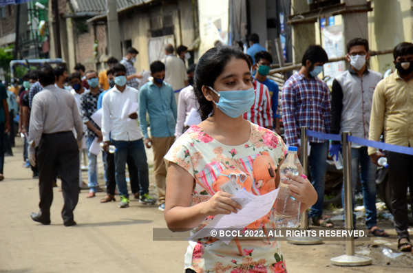 Students appear for JEE Main 2020 amid pandemic