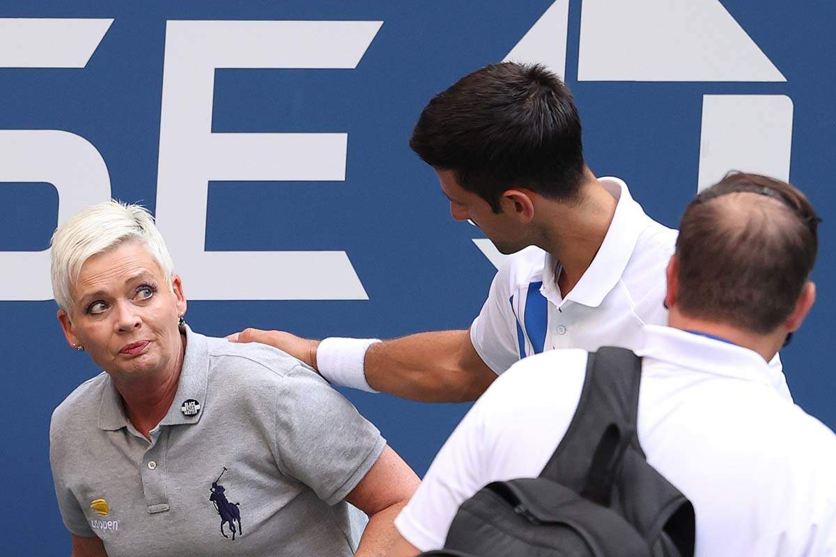 Novak Djokovic defaulted from US Open 2020 for accidentally hitting line judge
