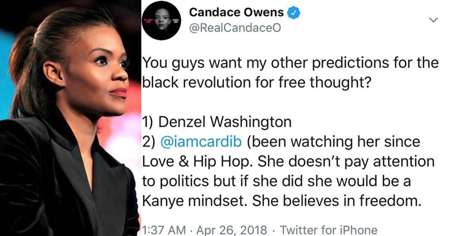 Cardi B hits back at author Candace Owens after she called her an 'embarrassment to Black people'