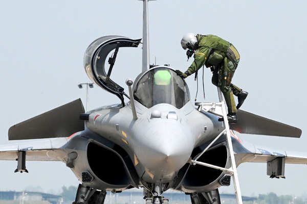 Five Rafale jets formally inducted into IAF