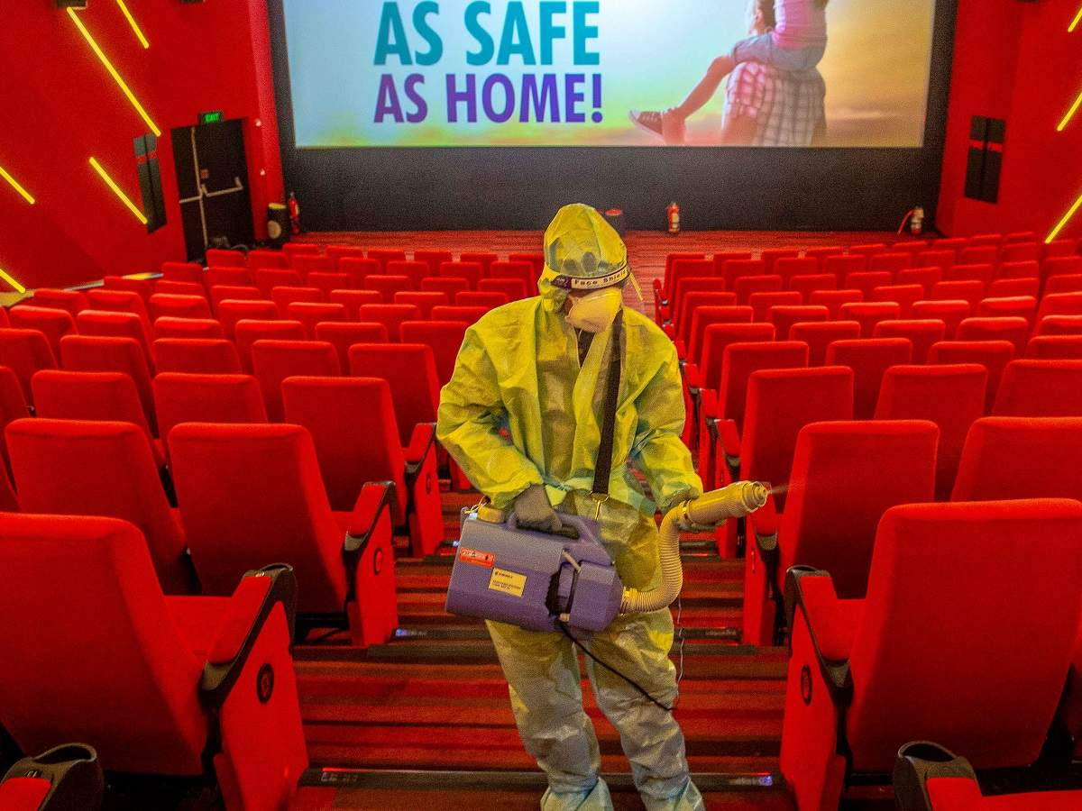 Safety drill at cinema hall. Photo: BCCL