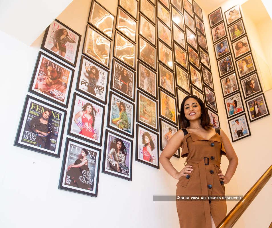 Hina Khan visits Femina FLAUNT Studio Salon