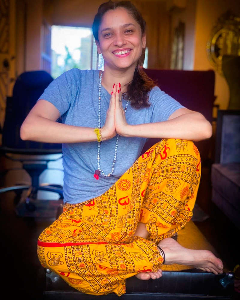 Ankita Lokhande trolled heavily for wearing 'Om' printed pyjamas