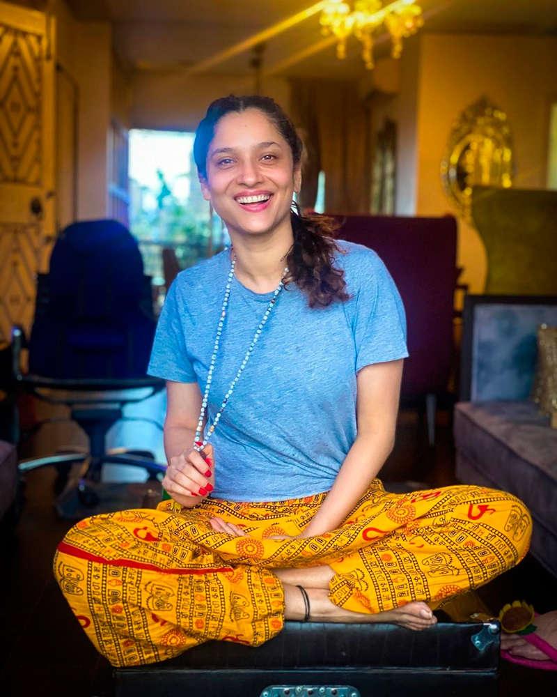 Ankita Lokhande trolled heavily for wearing 'Om' printed pyjamas