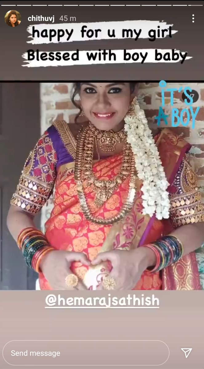 Pandian Stores fame Hema Rajkumar - Sathish blessed with a baby boy