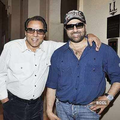 Sunny with dad Dhamendra