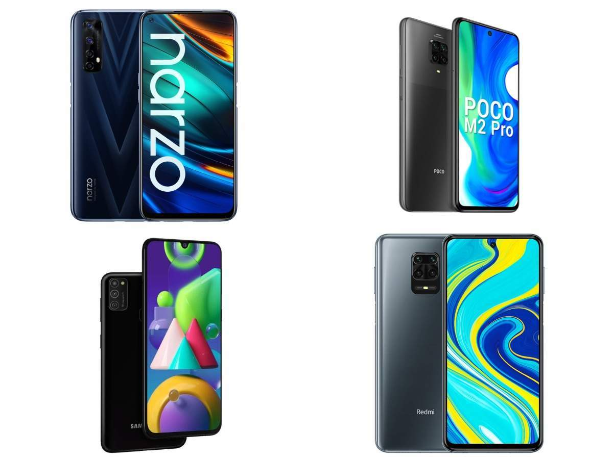 Realme Narzo 20 Pro vs Poco M2 Pro vs Xiaomi Redmi Note 9 Pro vs Samsung Galaxy M21: Top smartphones under Rs 15,000 compared