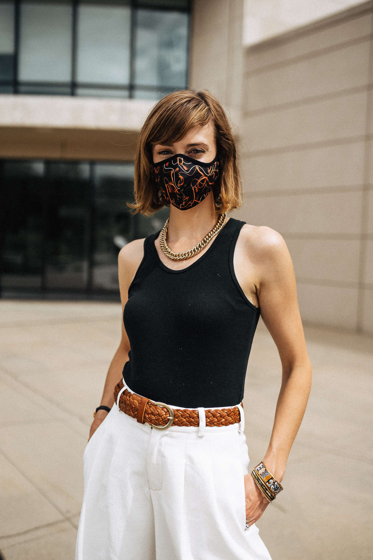 Culottes with masks