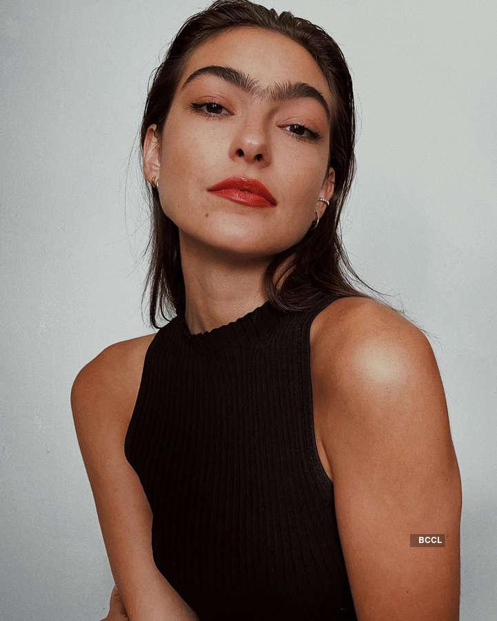 Haylee Michalski trolled for having monobrow