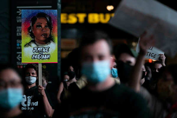 Protests across America after Breonna Taylor ruling