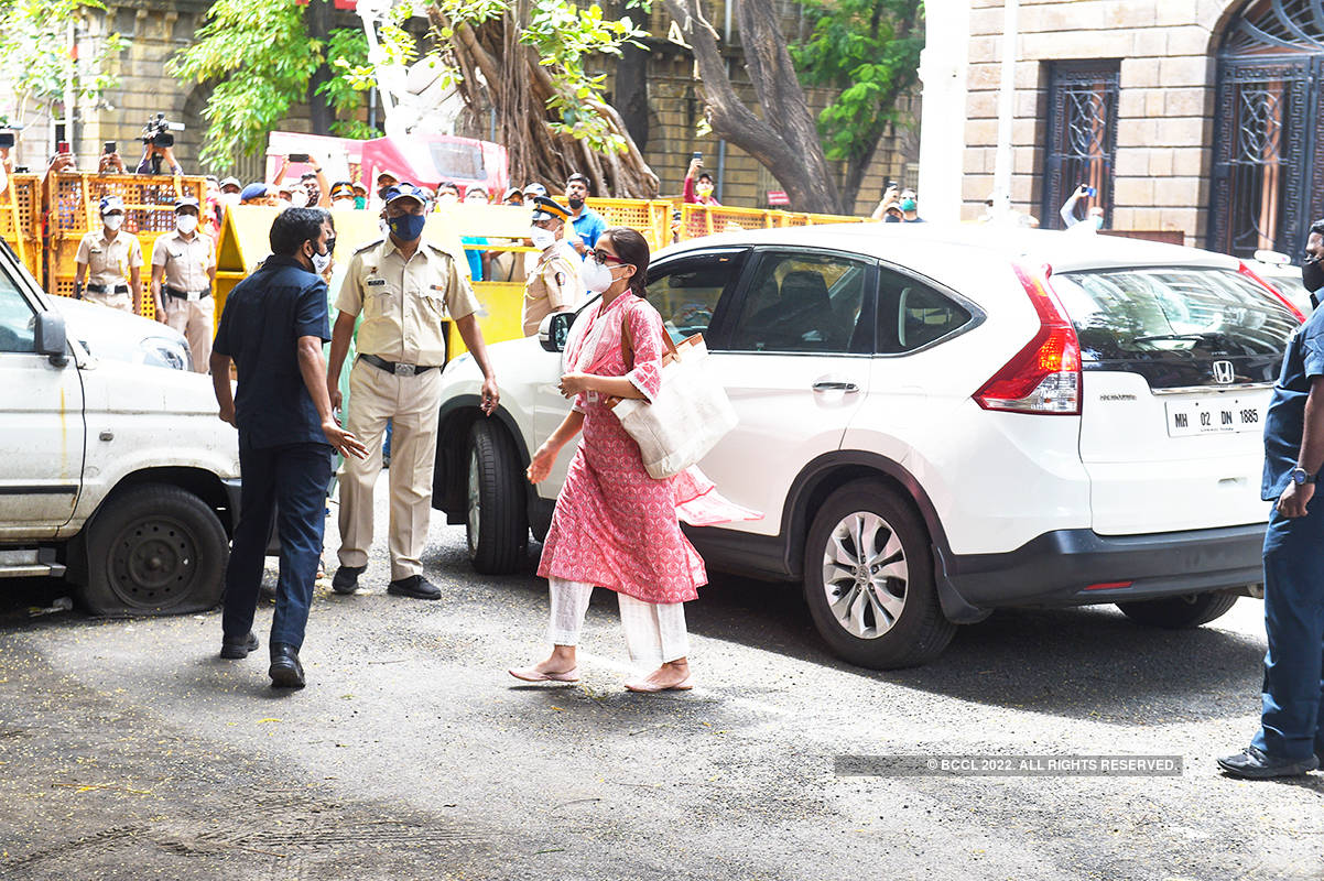 Actress Sara Ali Khan being questioned at NCB office in drugs case