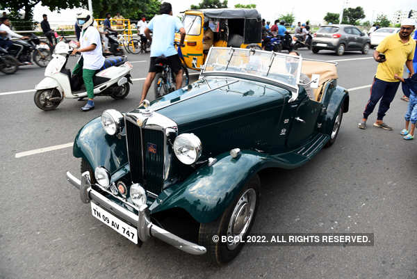 Vintage car rally held in Chennai